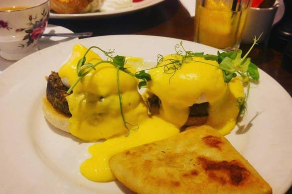 Haggis Eggs and Potato Scones