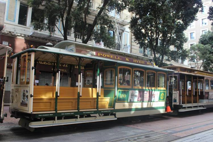 tram in San Francisco USA