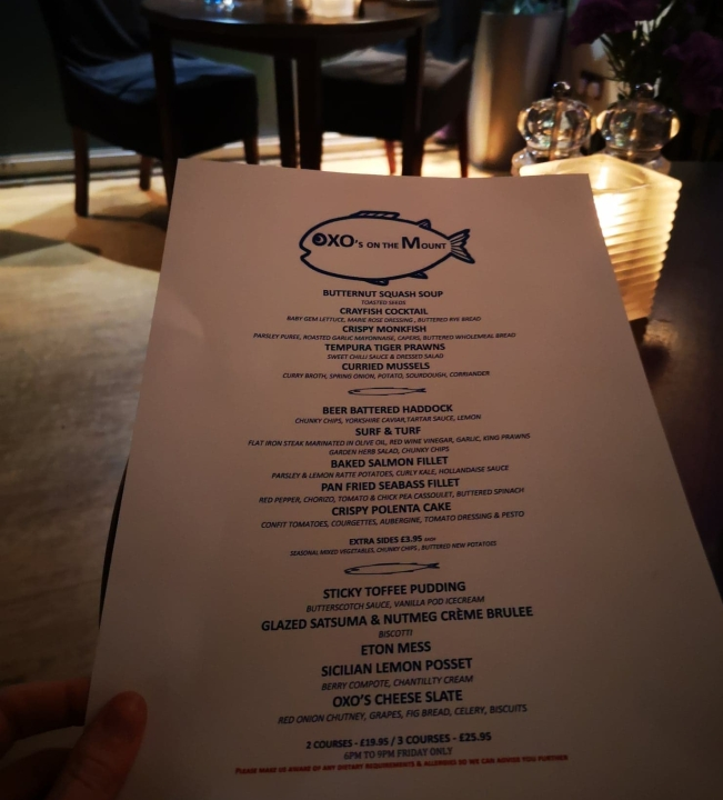 oxos york fish friday menu